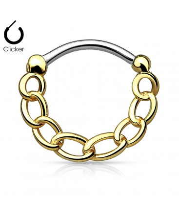 Surgical Steel Chain Link Septum Clicker