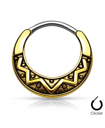 Surgical Steel Antique Tribal Septum Clicker