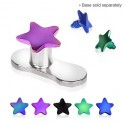 Anodised Titanium Star Dermal Anchor Head