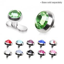 Surgical Steel 4mm Gem Dermal Anchor