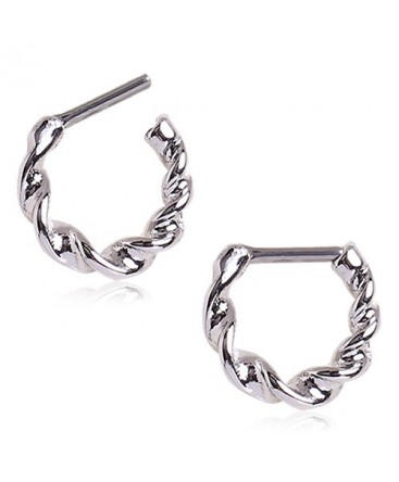 Surgical Steel Twisted Braid Septum Clicker