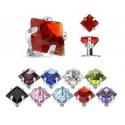 Surgical Steel Square Gem Dermal Anchor Head
