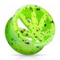 Acrylic Splatter Leaf / Weed / Cannabis Design Ear Tunnel