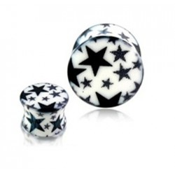 Acrylic Star Print Design Ear Tunnel