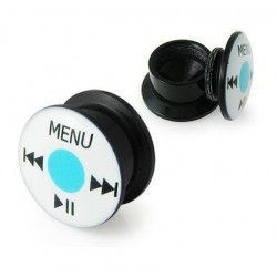 Acrylic Ipod Button Wheel Ear Tunnel