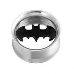 Surgical Steel Batman Ear Tunnel