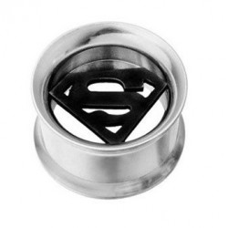 Stainless Steel Superman Ear Tunnel