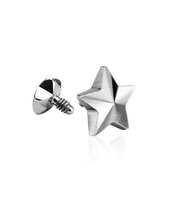 Surgical Steel Star Dermal Anchor Head