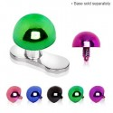 Anodised Titanium Dome Half Ball Dermal Anchor Head