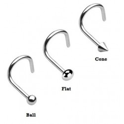 Surgical Steel Spike / Ball / Dome Nose Hook / Screw