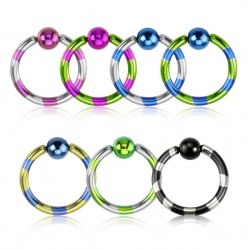 Duo-Tone Anodised Titanium Captive Bead Ring BCR