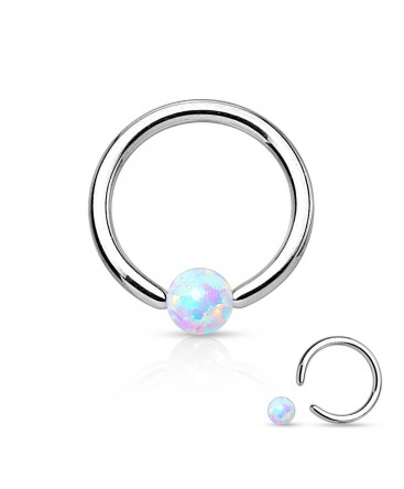 Surgical Steel Opal Ball BCR Captive Bead Ring