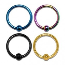 Anodised Titanium Captive Bead Ring BCR
