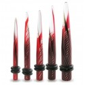 Acrylic Swirling Colour Ear Taper / Stretcher in Black / Red