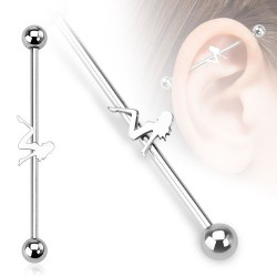 Surgical Steel Sexy Lady Industrial / Scaffold Barbell