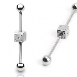 Surgical Steel Dice Industrial / Scaffold Barbell