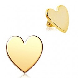 Gold Plated Love Heart Dermal Anchor Head