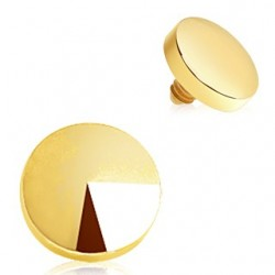 Gold Plated Disc Dermal Anchor Head