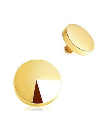 Gold Plated Disc Dermal Anchor Head