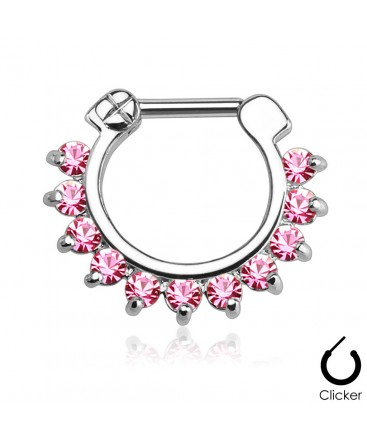 Surgical Steel Multi Gem Droplet Septum Clicker