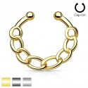 Clip-On / Fake Hanging Linked Chain Septum Ring