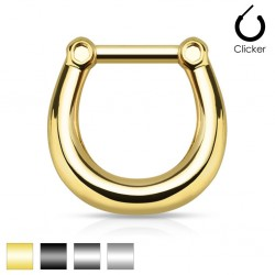 Surgical Steel Plain Smooth Septum Clicker