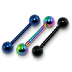 3 Pack of Anodised Titanium Tongue Bars