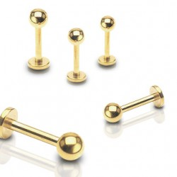 Gold Plated Tragus / Labret / Cartilage / Helix / Conch / Stud with Ball