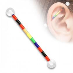 Acrylic Rainbow Stripe Pride Industrial Scaffold