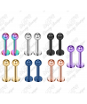 Colour Plated Labret / Monroe / Tragus Bar