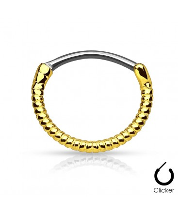Surgical Steel Twisted Rope Line Septum Clicker