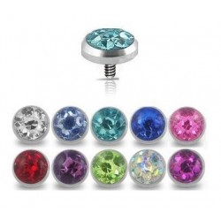 Surgical Steel 5mm Gem Dermal Anchor Head