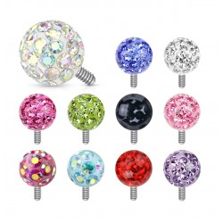 Surgical Steel Cluster Gem Ball Dermal Anchor Head