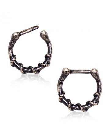 Surgical Steel Rope Wrapped Antique Inspired Septum Clicker