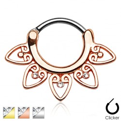 Surgical Steel Plated Tribal Fan Septum Clicker