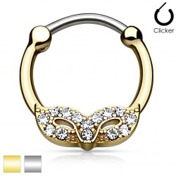 Surgical Steel Masquerade Mask Septum Clicker