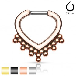 Surgical Steel Beaded Trim Septum Clicker