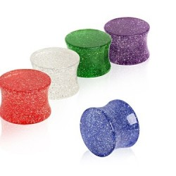 Acrylic Glitter Coloured Ear Tunnel