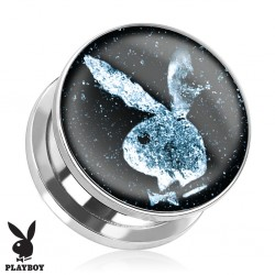 Surgical Steel Genuine Playboy Rabbit Space Print Ear Tunnel