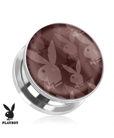 Surgical Steel Genuine Repeat Playboy Print Ear Tunnel