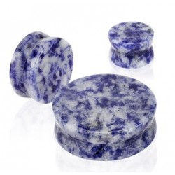 Semi Precious Blue Spot Natural Stone Ear Tunnel