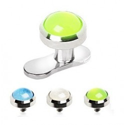 Surgical Steel Neon Glow In The Dark Dermal Anchor Head