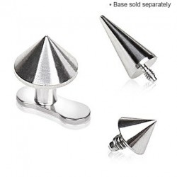 Surgical Steel Spike Cone Dermal Anchor Head