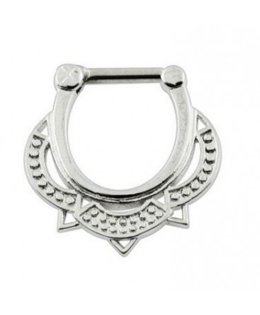 Surgical Steel Dotted Tribal Septum Clicker