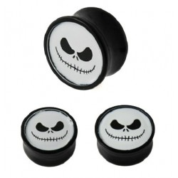 Acrylic Nightmare Before Christmas Jack Logo Ear Tunnel