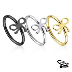 Surgical Steel Bow / Knot Nose Hoop / Ring