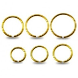 Surgical Steel Gold Anodised Eyebrow / Nose Ring / Hoop