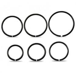 Surgical Steel Black Anodised Eyebrow / Nose Ring / Hoop
