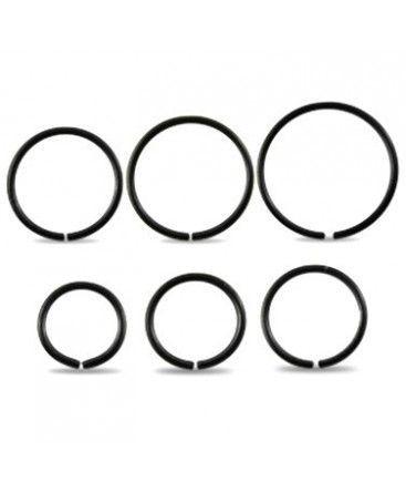Surgical Steel Black Anodised Eyebrow / Nose Ring / Hoop
