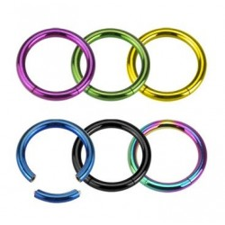 Anodised Titanium Segment Ring Nose / Tragus / Lip Hoop